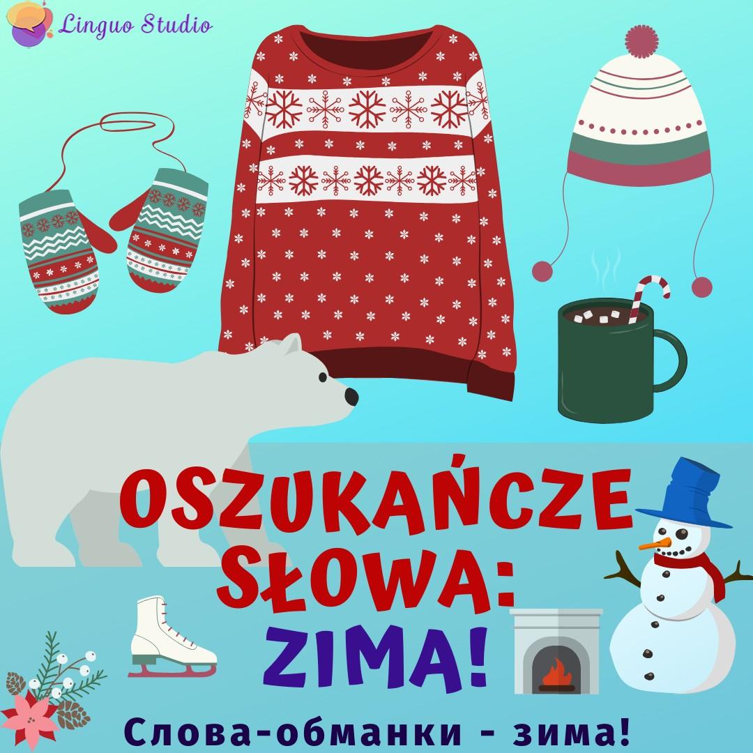 Польская лексика #73 Зимняя тема